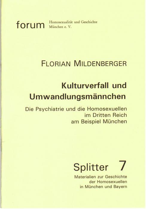 Kulturverfall Und Umwandlungsmnnchen Die Psychiatrie -4755