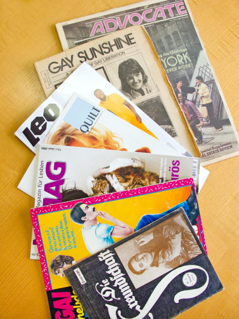 Schwule und lesbische Zeitschriften unserer Bibliothek